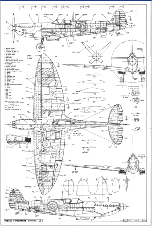 Warbirds restoration technical drawings and blueprints for famous click this image to claim your free spitfire poster malvernweather Gallery